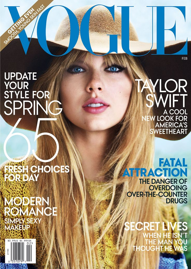 Taylor was on the cover of VOGUE