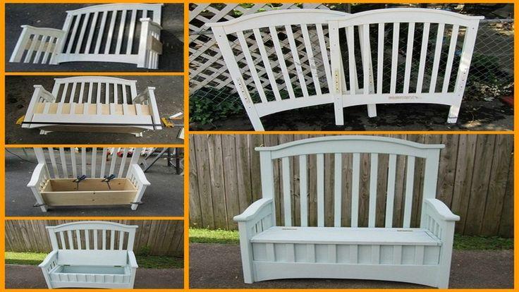 Diy Crib Turned Into Bench Diy Crib Repurposed