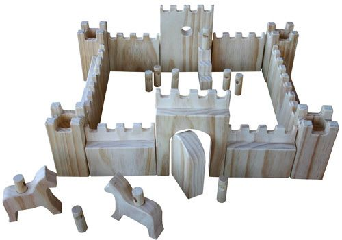 Wooden Toy Castle Toys (plantation pine, made in Melbourne)