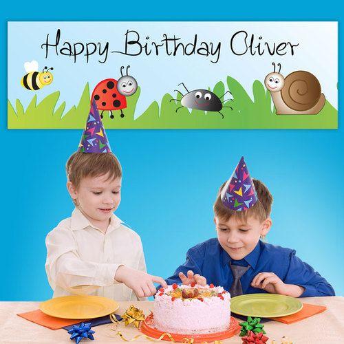 Personalised Birthday Bugs Banner