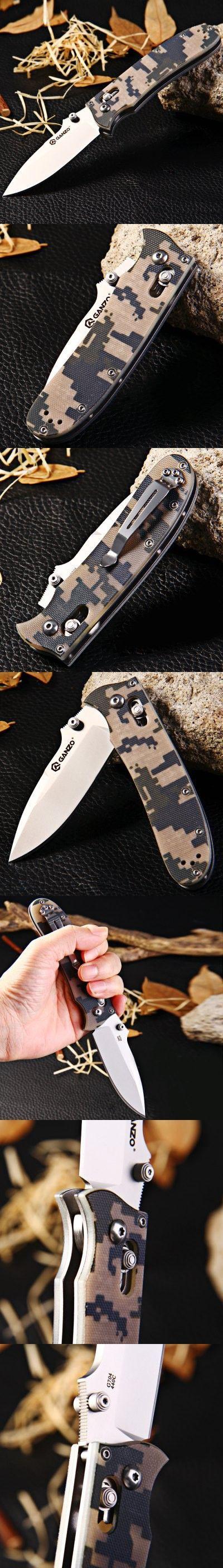 Pocket Knives and Folding Knives   Ganzo G704-CA Axis Lock Folding Knife