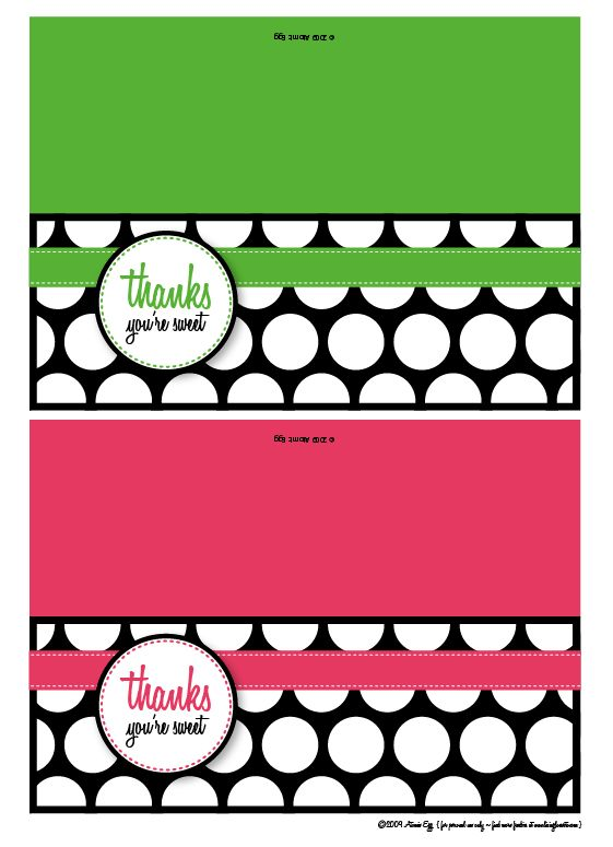 Thanks You're Sweet! Free Printable | Living Locurto - Free Printables, How To DIY Ideas, Crafts & Party Ideas.