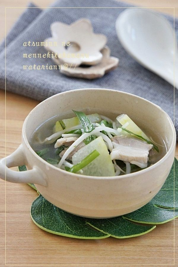 疲労回復☆からだ喜ぶ豚ニラ冬瓜スープ by 渥美真由美 | レシピサイト ...