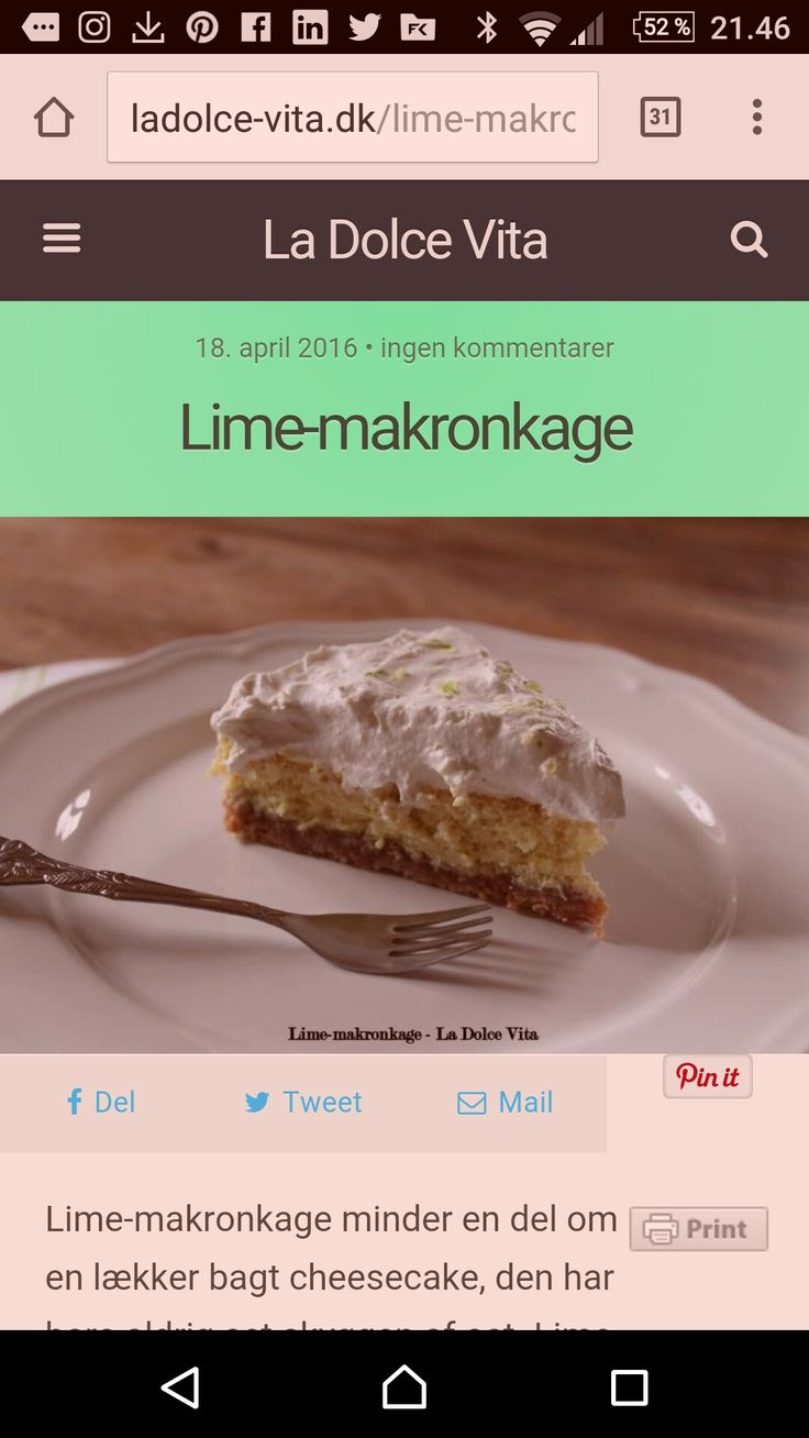 Lime makronkage http://ladolce-vita.dk/lime-makronkage/