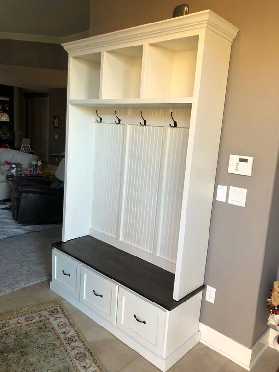 The Georgia 2 Section Mudroom Bench Shoe Storage Bench Entryway