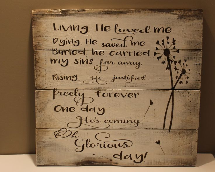 Oh Glorious Day Rustic Pallet Wood Wall Hanging