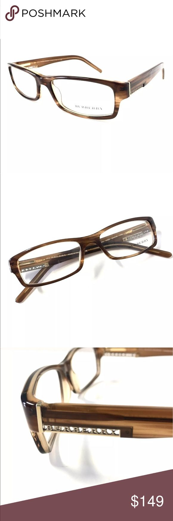 BURBERRY Eyeglasses Brown Horn Brown Horn Burberry Eyeglasses  Burberry Eyeglasses for Prescription lenses  SIZE: 53mm - 16mm - 140mm  🦋100% Authentic!!!  🦋Includes a Burberry Case. No Tags Burberry Accessories Glasses