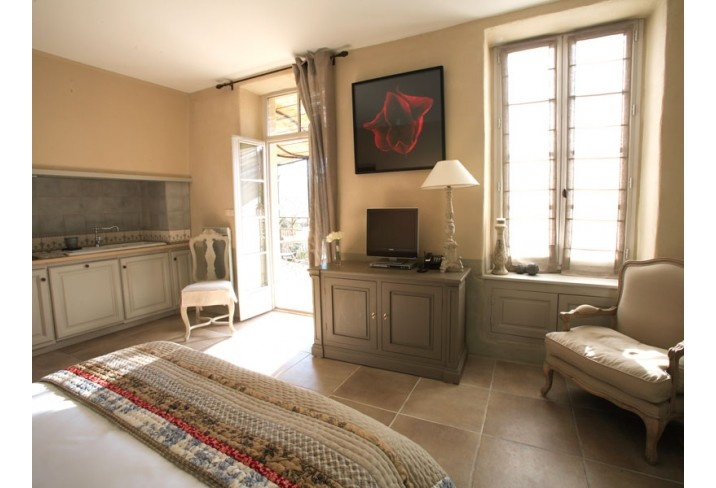 The room we stayed in when we visited Le Couvent d'Herepian, south of France - stunning boutique hotel with great food and a subterranean spa.