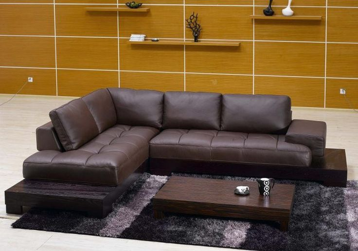 contemporary leather sectional sofa