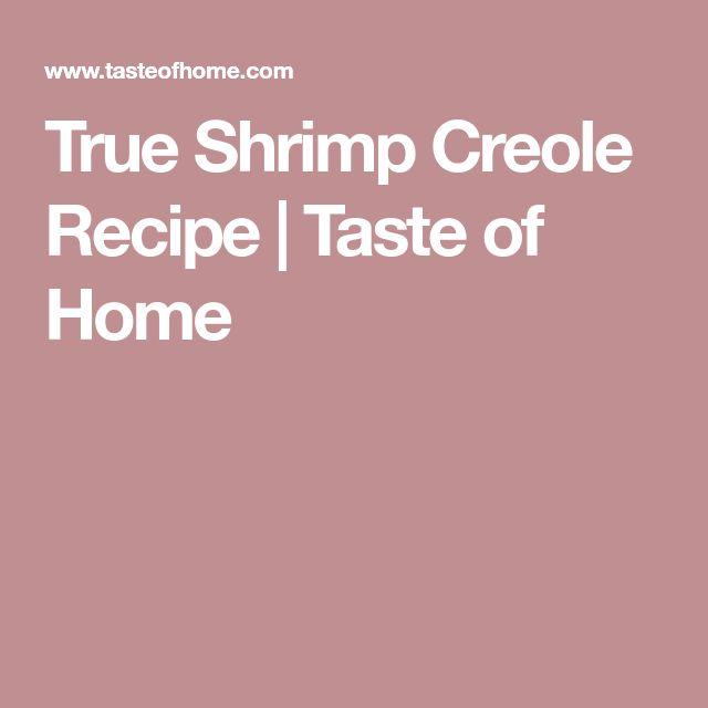 True Shrimp Creole Recipe   Taste of Home