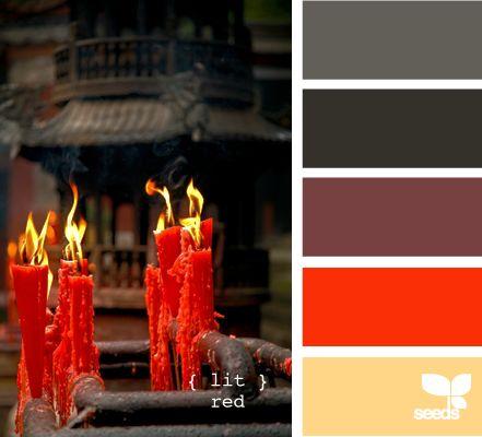 Lit red