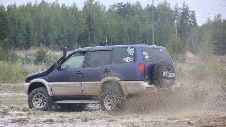Nissan Terrano II Синий Светодиодный Ёж