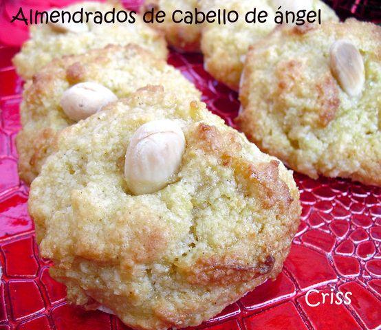 Almendrado de cabello de ángel Ver receta: http://www.mis-recetas.org/recetas/show/24693-almendrado-de-cabello-de-angel #dulces #almendrados