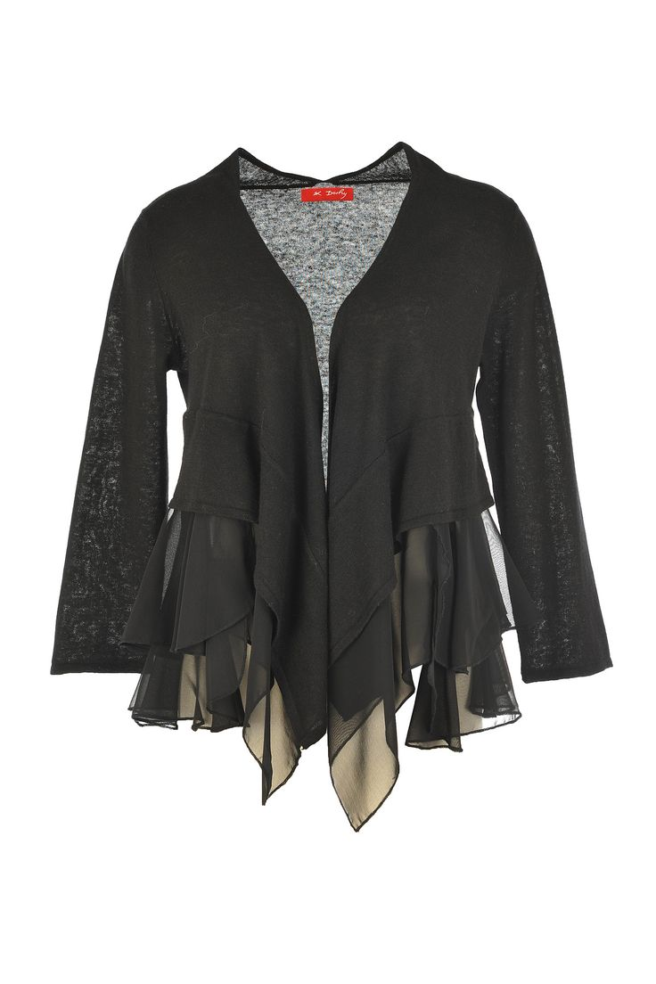 The luscious layers of this dark, desirable Derhy cardigan are basically beautiful to us!