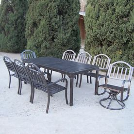 $1600 lowes Oakland Living 8 Piece Wrought Iron Patio