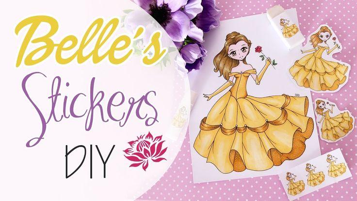 Belle's Stickers DIY - Adesivi di Belle fai da te