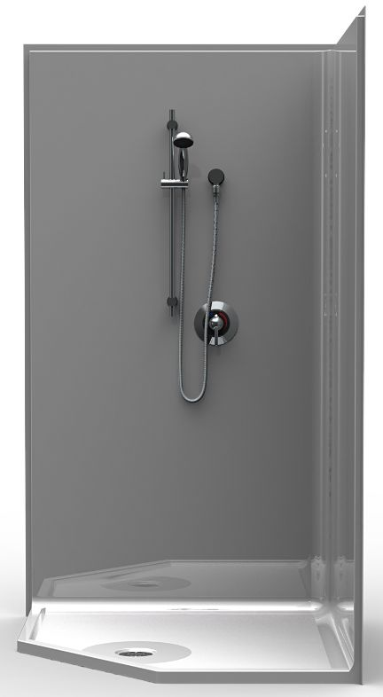 42 x 42 Neo Angle Shower Stall is a One Piece Unit & curbless. Shipped directly to your door.  Shop Online & Save, Free Shipping at EZ Able®