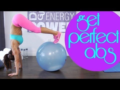 Best Ab and Core Workout Using a Stability Ball for Perfect Abs | with Natalie Jill - YouTube