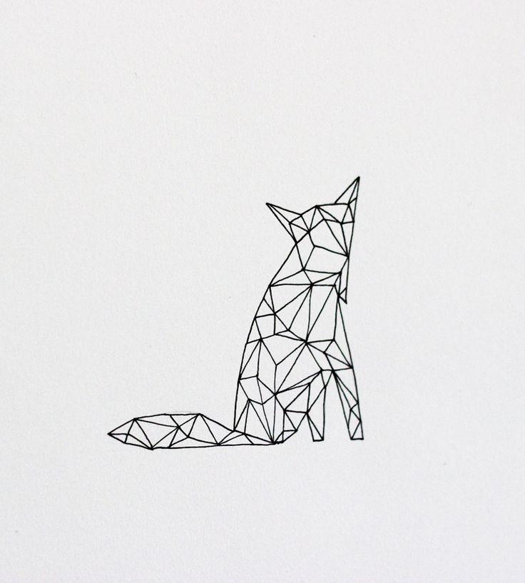 Geometric Fox - Original Drawing   Art Pieces   Anna Tovar   Scoutmob Shoppe   Product Detail