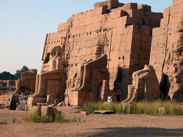 Karnak Temple covers more than 200 acres. The Temple of Karnak is actually a complex of temples as well as other colossal and religious buildings located near the Nile River close to the modern city of Luxor, which was built on the site of the ancient Thebes.