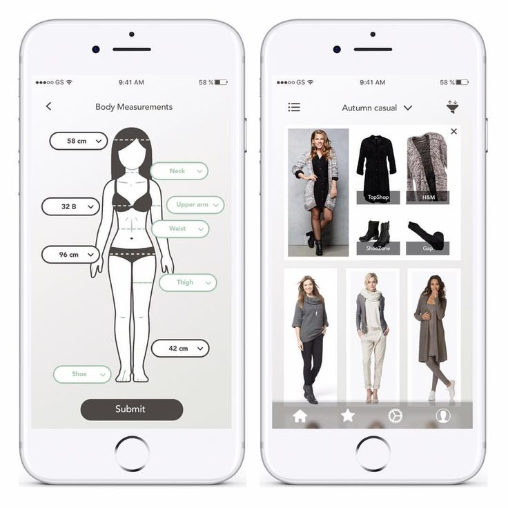 shop this look concept app add your body measurements and browse styles that