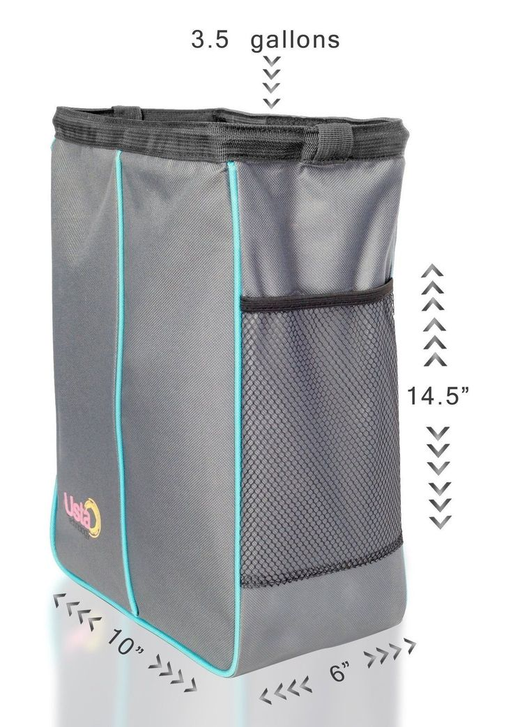 Car Trash Can - Best Auto Garbage Bag for Litter- Large Hanging Waterproof an...