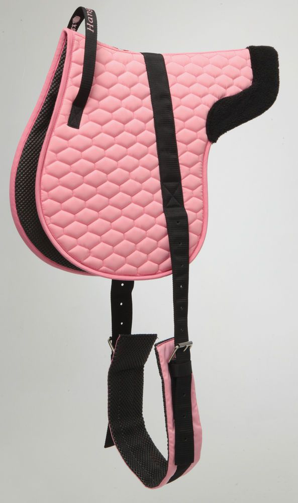 BAREBACK PAD SADDLE NON SLIP LINING STEADYING GRIP HANDLE PINK or BLUE