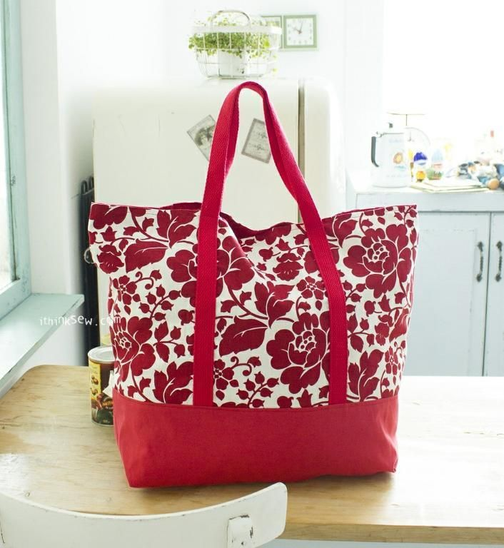 Looking for your next project? You're going to love FREE #14 Martha Market Bag PDF Pattern by designer iThinksew.