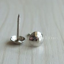 "50 PCS Decorative Nail Tack Pin Glue Pad Fabric cover button 9mm 3/8"" Silver"