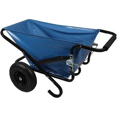 Folding Wheelbarrow Cart Garden Outdoor Beach Blue Heavy Duty Camping Yard Lawn