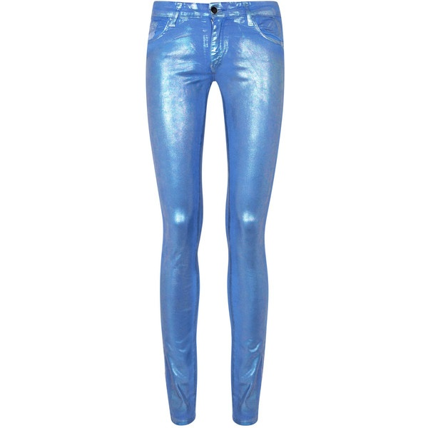 75 Faubourg Mid-Rise Metallic Skinny Jeans  ❤