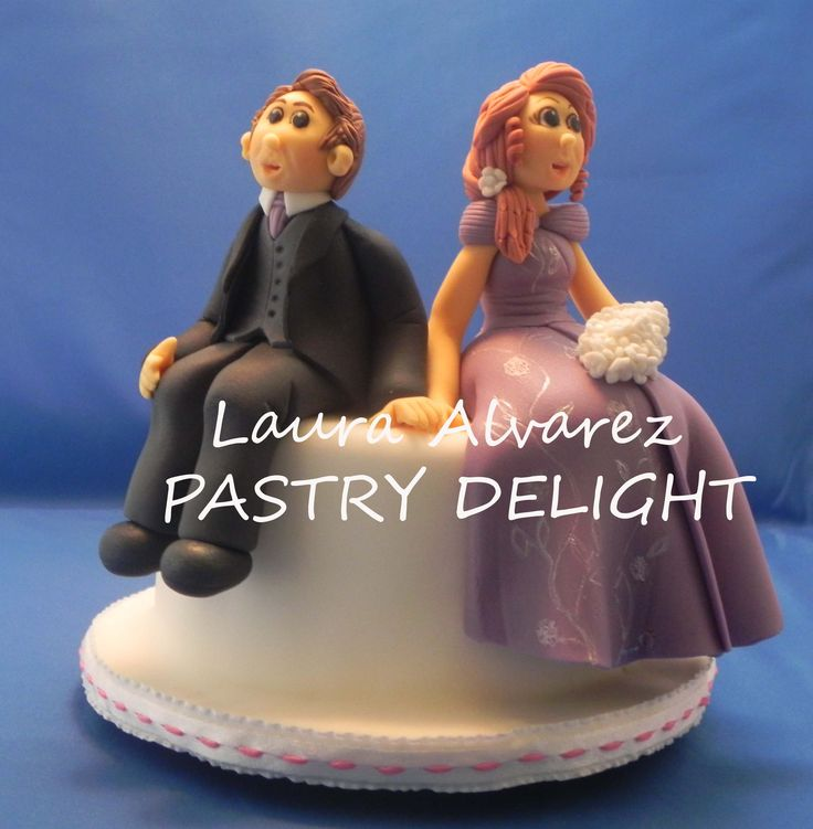 Beautiful topper couple for your wedding cake www.pastrydelight.com