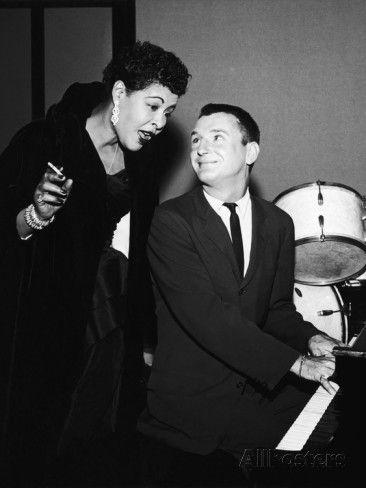 billie holiday bobby tucker | Legendary Blues Vocalist Billie Holiday, Bobby Troup, 1956 ...