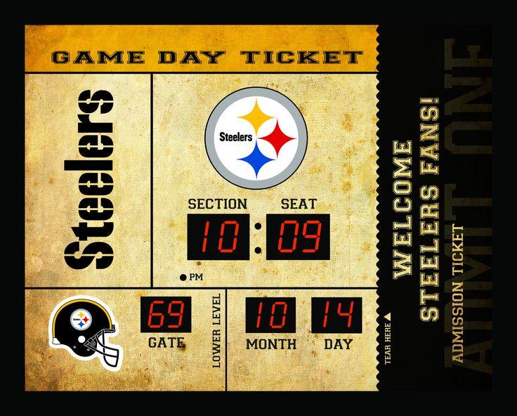 Pittsburgh Steelers Clock - 14x19 Scoreboard - Bluetooth