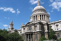 South Facade of the St. Paul's Cathedral in London