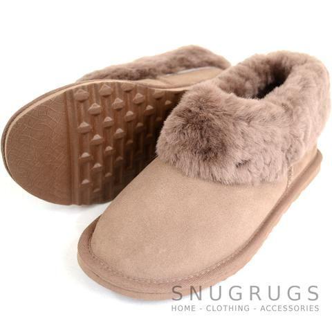 Lottie - Luxury Sheepskin Slipper Boot - Mink. Snugrugs £44