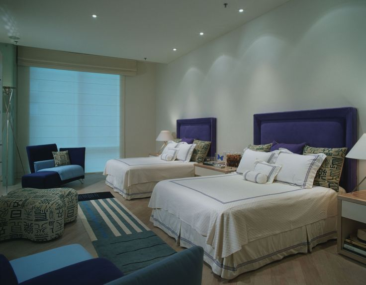 Bedroom Amazing Picture Wall Mounted Headboards Good Large Window Nice White Color Brown Flooring Twin Beds The Beautiful
