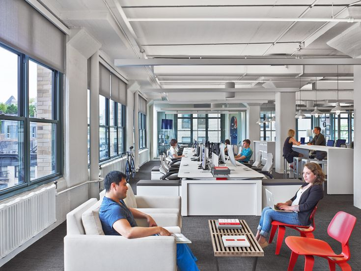 Havas New York City Advertising Offices #Open plan #Breakout #Soft seating: