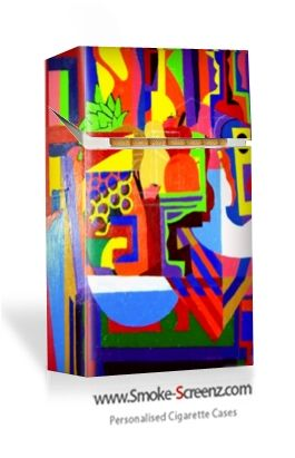 Cubism effect designed cigarette case - all cigarette cases at Smoke-Screenz.com can be personally designed with pictures, images, graphics and text