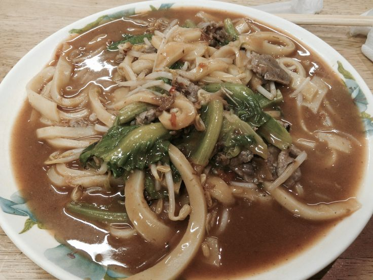 Taiwanese thick noodles in tomato sauce 番茄 餅 麵