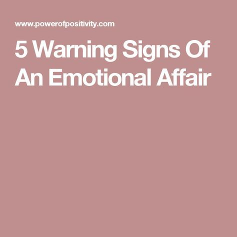 Getting Unhooked From An Emotional Affair
