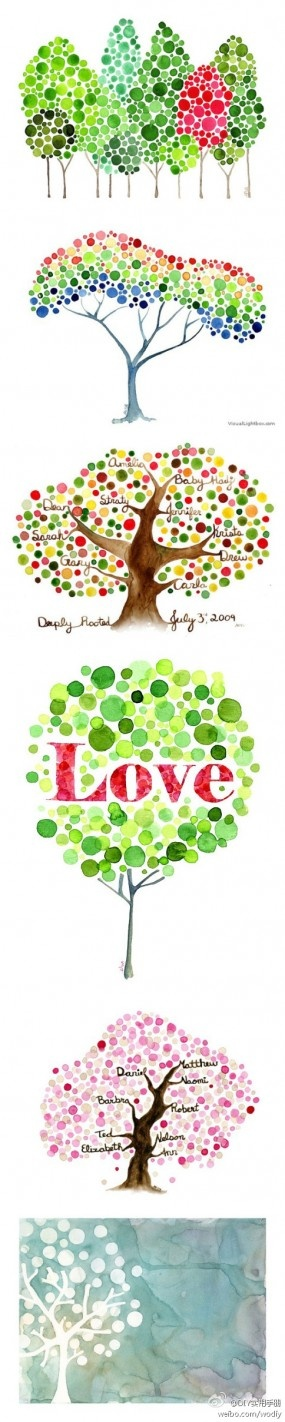 Dotted trees/heart