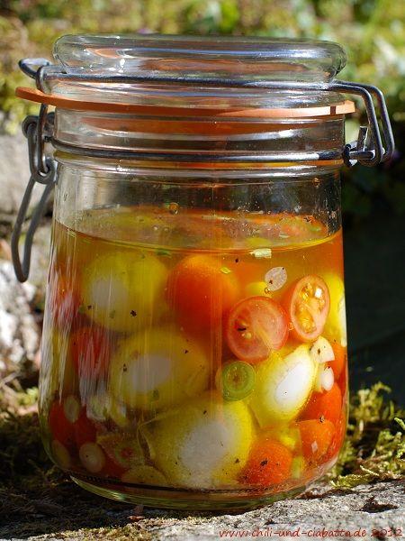 Wachteleier in Tomatenvinaigrette