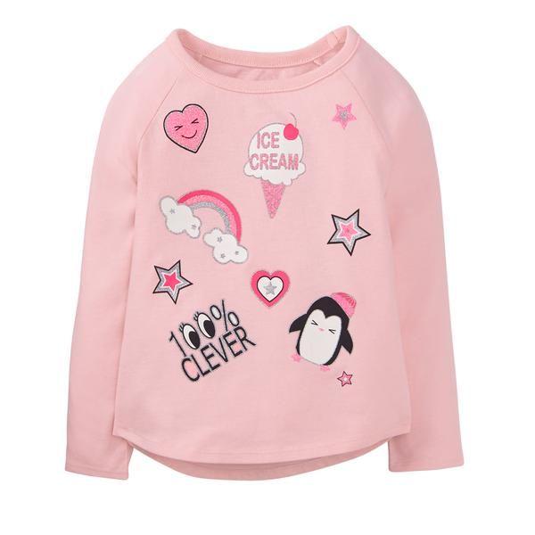 Toddler Girl Bubblegum Pink Sparkle Emoji Tee by Crazy 8