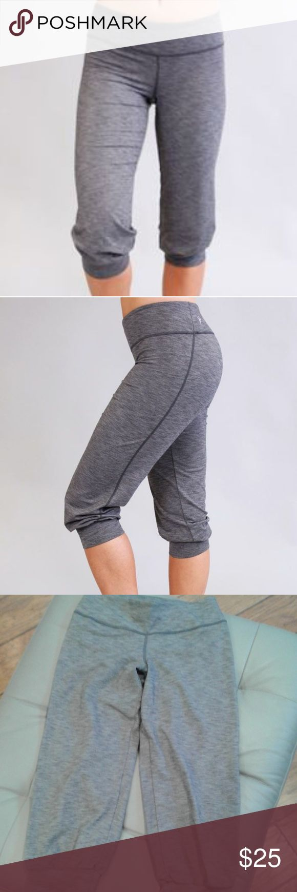 Cozy Orange Shiva Yoga Crops Shiva Yoga Crops - Heather Charcoal | Cozy Orange Women's Yoga ORGANIC Sz s like NEW  Heathered Cozy-Lux  Our thickest Supplex® fabric blend designed to offer added compression and support during high intensity workouts and extreme postures. Offering exceptional elasticity for added stretchiness.   Other Fashionably Functional Benefits:  Anti-sheer coverage & pilling resistance  Four-way stretching for increased mobility  Warmth retention to really get the…
