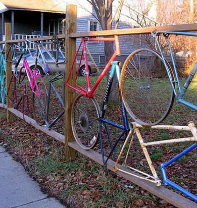 Recycled Bikes - Fence Ideas - 8 Ways to Incorporate Salvaged Materials - Bob Vila