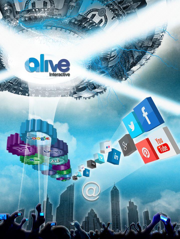 Diseño para mural Alive Interactive