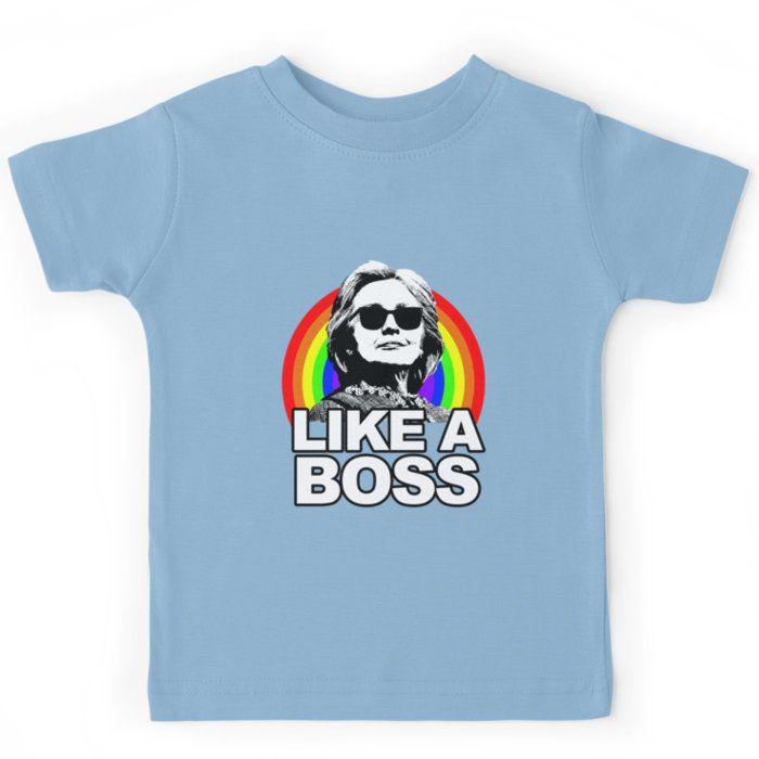 Hillary Clinton Like a Boss Rainbow Kids Clothes