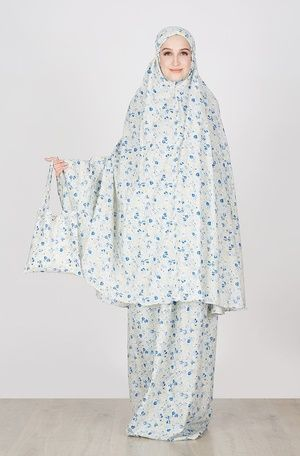 Tazkia Collections  New Jasmine Blue  IDR 214.000  Jual Baju dan Busana Muslim Modern | Hijabenka