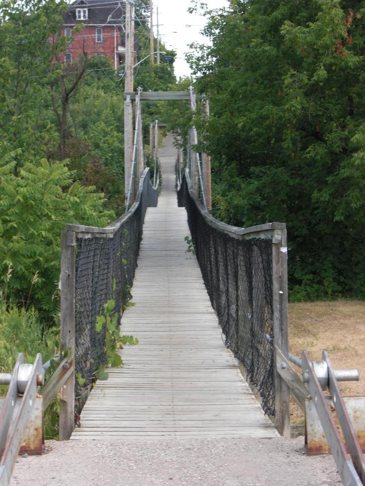 Old pedestrian suspension bridge, Renfrew, Ontario!